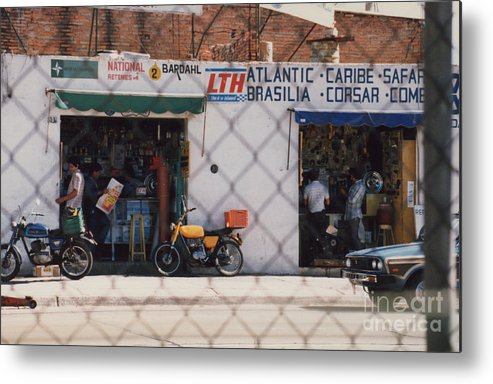 Mexico Metal Print featuring the photograph Mexico Tiendas Shops By Tom Ray by First Star Art