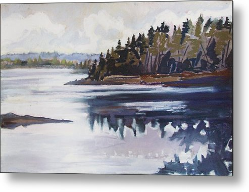 Downeast Maine Metal Print featuring the pastel Mt. Desert Morning by Grace Keown