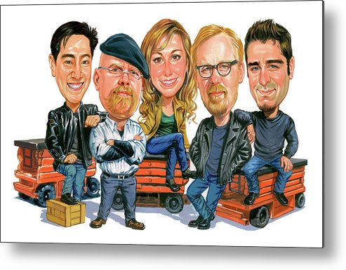 Mythbusters Metal Print featuring the painting Mythbusters by Art
