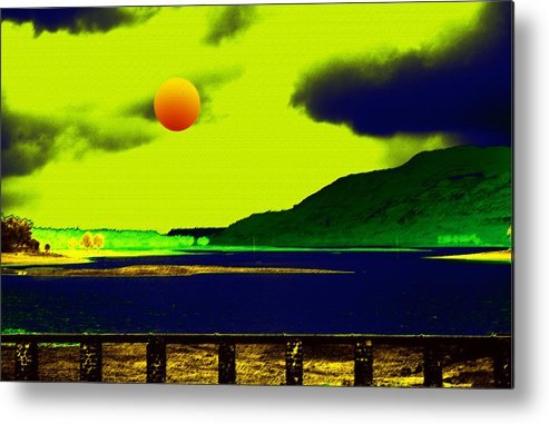 Nature Metal Print featuring the digital art Nature's Night Scene by Bliss Of Art