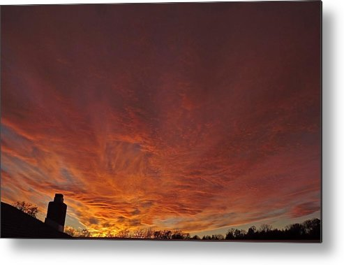 Cloud Metal Print featuring the photograph November Sunset by Greg Boutz