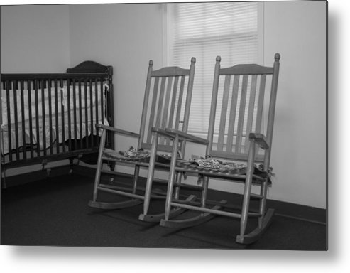 Nursery Room Photographs Metal Print featuring the photograph Rocking Chairs by Ester Rogers