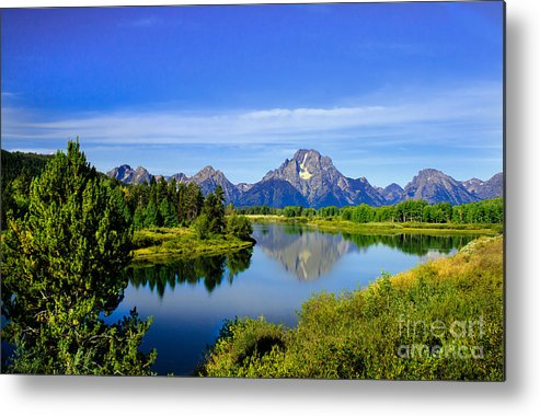 Grand Teton Metal Print featuring the photograph Oxbow Bend by Robert Bales