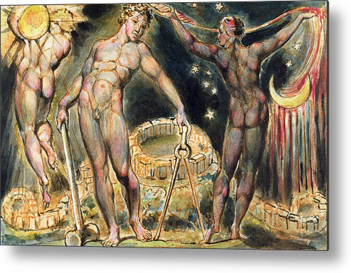 Nude Metal Print featuring the painting Plate 100 From Jerusalem by William Blake