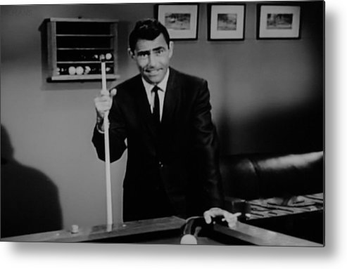 The Twilight Zone Metal Print featuring the photograph Rod Serling by Rob Hans