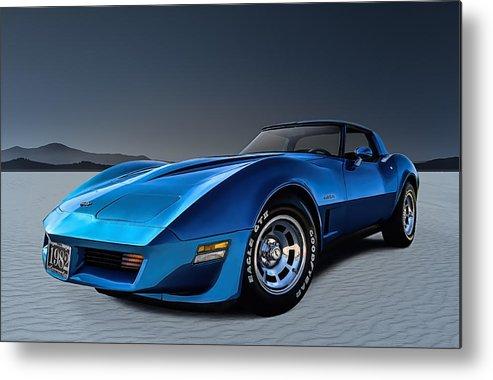 Corvette Metal Print featuring the digital art Stingray Blues by Douglas Pittman