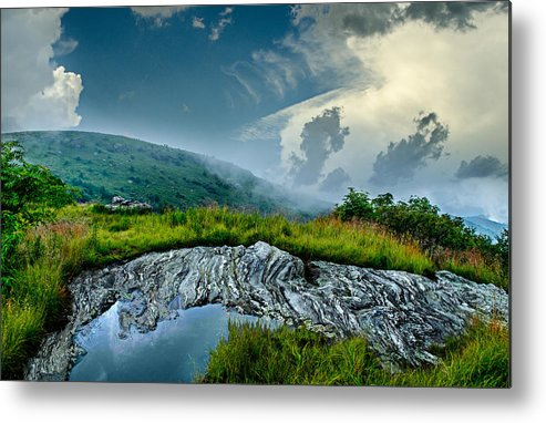 Storm Metal Print featuring the photograph Storm Rolling In On Black Balsom by Mary Young