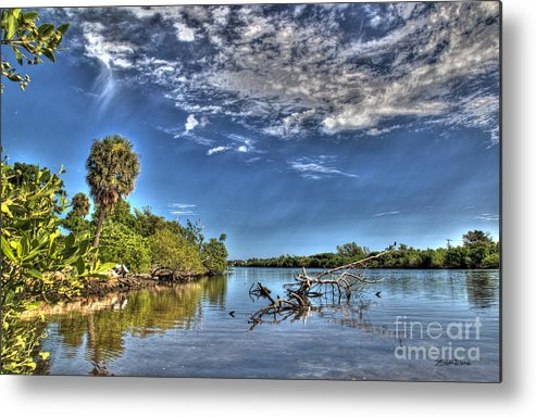 Intracoastal Waterway Metal Print featuring the photograph Surreal Intracoastal View by Michelle Constantine