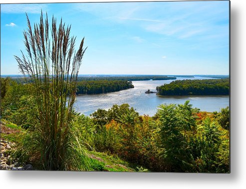 Mississippi River Scene Metal Print featuring the photograph The Confluence by Julie Dant