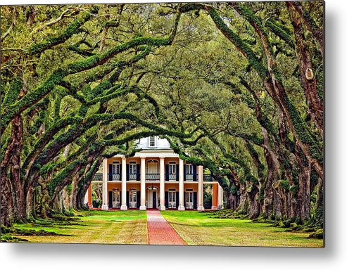 Oak Alley Plantation Metal Print featuring the photograph The Old South by Steve Harrington