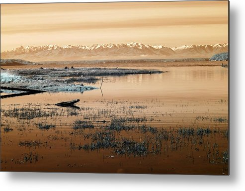 Mountains Metal Print featuring the photograph The Olympic Range by Rebecca Parker