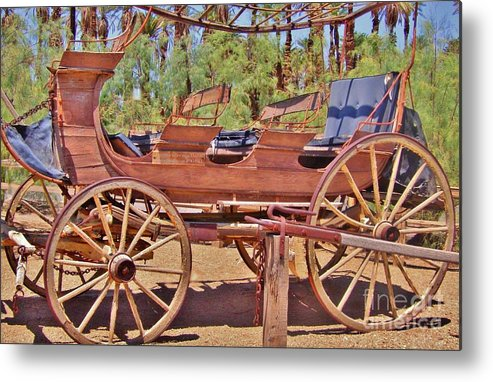 Wagon Metal Print featuring the photograph The Ride by Marilyn Diaz
