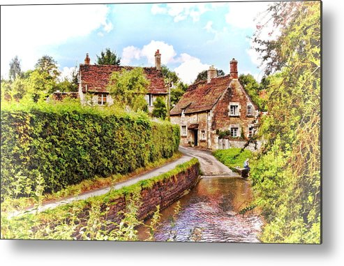 Ford Metal Print featuring the photograph Tranquil Stream Lacock by Paul Gulliver