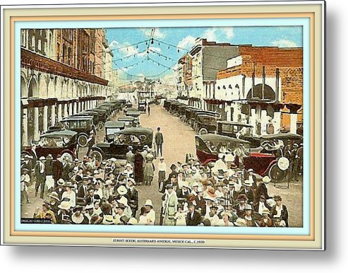 Venice Ca Metal Print featuring the mixed media Venice Ca Rally- 1920 by Dwight Goss