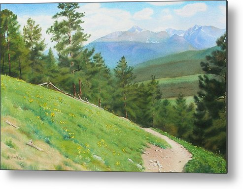 Rocky Mountain National Park Metal Print featuring the painting View From Deer Mountain by Daniel Dayley