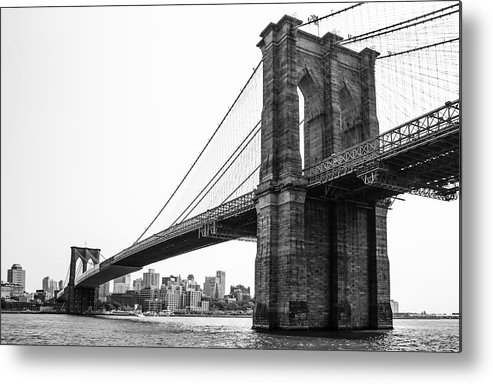 Brooklin Metal Print featuring the photograph View Of The Brooklin Bridge by Sam Garcia