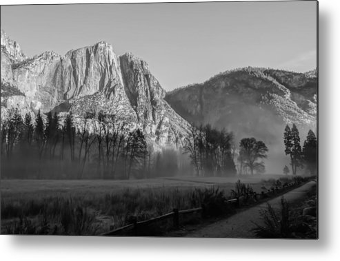 Fog Metal Print featuring the photograph Winter Mist In Yosemite by Mark Turner