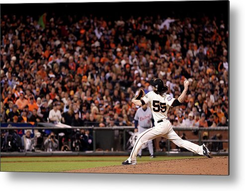 San Francisco Metal Print featuring the photograph World Series - Detroit Tigers V San by Christian Petersen