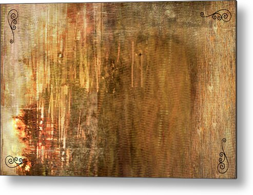 Bamboo Metal Print featuring the painting Bamboo by Christopher Gaston