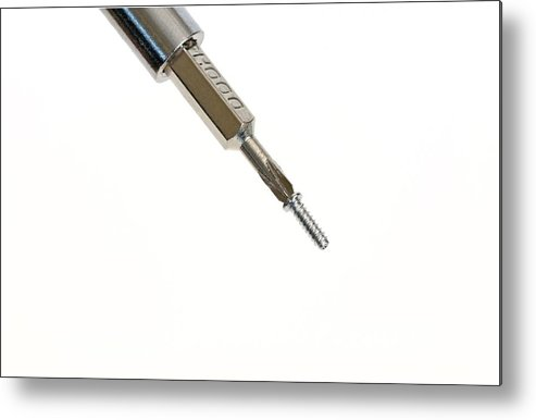 Horizontal Metal Print featuring the photograph Screwdriver by Photostock-israel