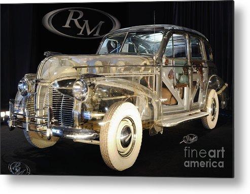 Car Metal Print featuring the photograph 1940 Pontiac Transparent by Ronald Grogan