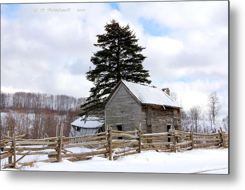 Rail Fence Metal Print featuring the photograph Abandoned Home by Carolyn Postelwait