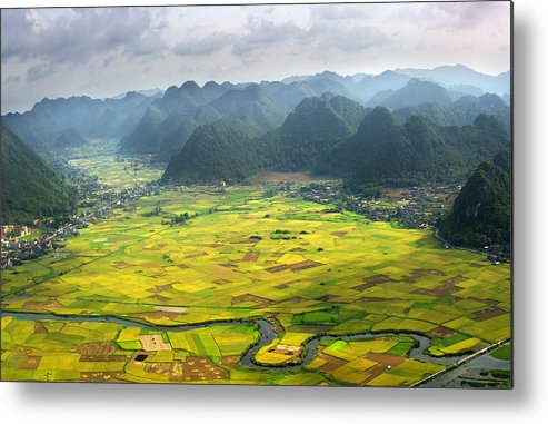 Horizontal Metal Print featuring the photograph Bacson Valley by By Hoang Hai Thinh