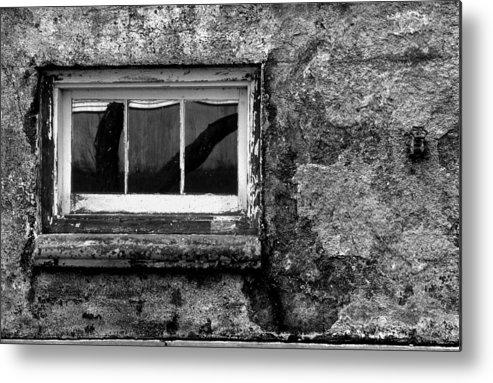 Window Metal Print featuring the photograph Basement Window by Tony Ramos