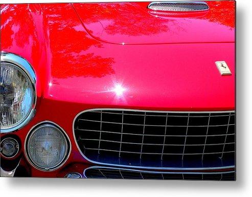 Red Ferrari Metal Print featuring the photograph Classic Ferrari by Jeff Lowe