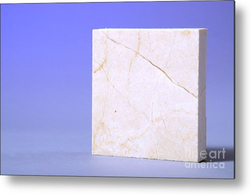 Geology Metal Print featuring the photograph Crema Marfil Marble by Photo Researchers, Inc.