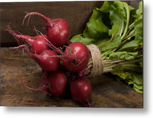 Beets Metal Print featuring the photograph Farmer's Market Beets by Garry McMichael
