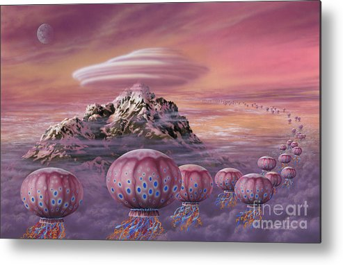 Lynette Cook Metal Print featuring the painting Floaters by Lynette Cook