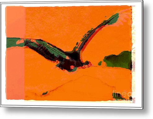 Bird Metal Print featuring the digital art Flying Zone by Peter Szabo