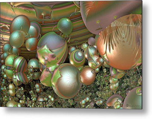 Abstract Metal Print featuring the digital art Immune Response by Peggi Wolfe