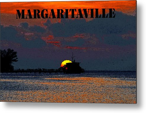 Art Metal Print featuring the painting Margaritaville by David Lee Thompson