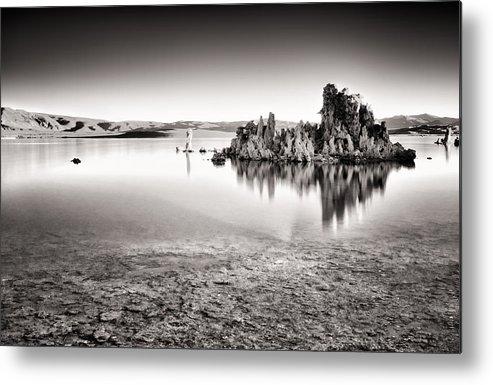 Mono Lake Metal Print featuring the photograph Monochrome Mono Lake Sunrise by Tanya Harrison