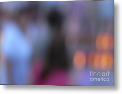 Abstract Metal Print featuring the photograph Imagine Nightfall At The Funfair by Andy Prendy