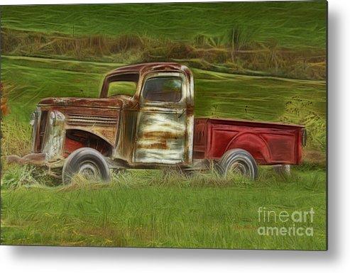 Old Truck Metal Print featuring the photograph Oldie But Goodie by Deborah Benoit