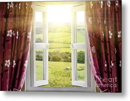 Air Metal Print featuring the photograph Open Window With Countryside View by Simon Bratt Photography LRPS