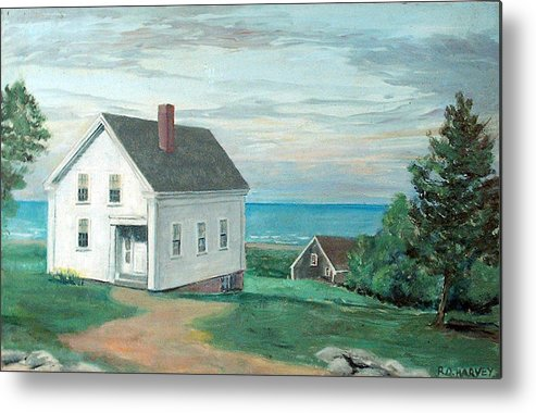 House Metal Print featuring the painting Scenic Overlook by Robert Harvey