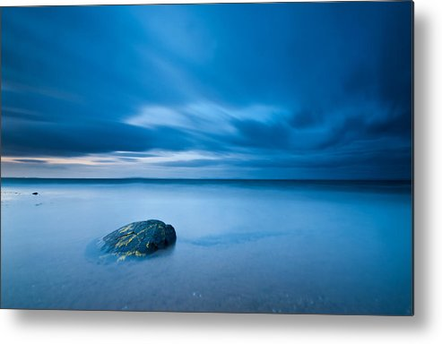 Horizontal Metal Print featuring the photograph Sea With Blue Sky by Photographybyurbaneyes.com