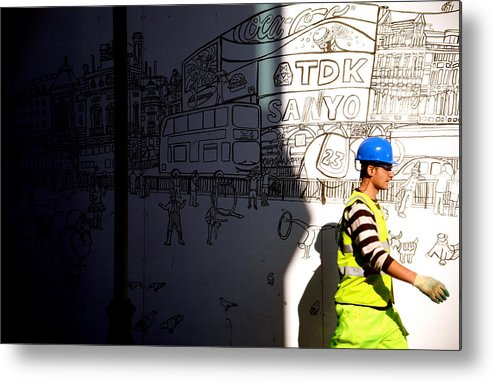 Jezcself Metal Print featuring the photograph Sketchy London by Jez C Self