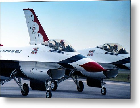 Photography Metal Print featuring the photograph Thunderbirds by Lynnette Johns
