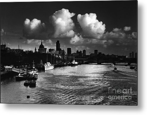 Thames Photographs Metal Print featuring the photograph View Of The City Of London by Aldo Cervato