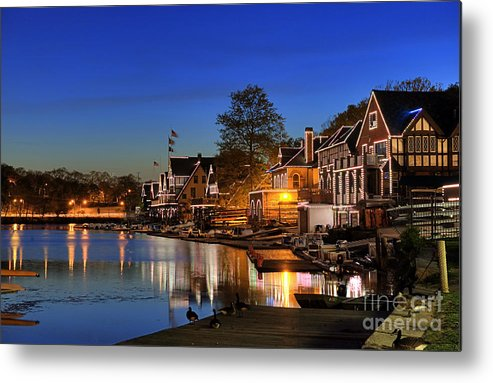 Philadelphia Metal Print featuring the photograph Boathouse Row by John Greim