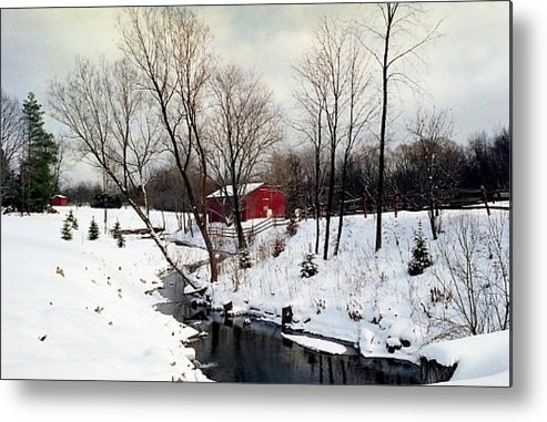 Snow Metal Print featuring the photograph 072606-31 by Mike Davis