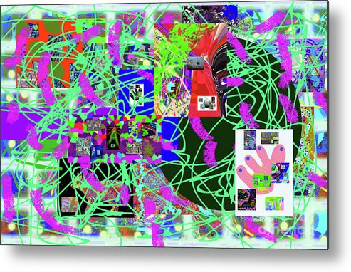 Walter Paul Bebirian Metal Print featuring the digital art 1-3-2016eabcd by Walter Paul Bebirian