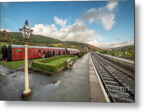 Rail Metal Print featuring the photograph Carrog Railway Station by Adrian Evans