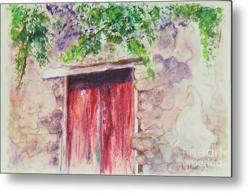 Sorrento Metal Print featuring the painting Sorrento Secret by Laurie Morgan