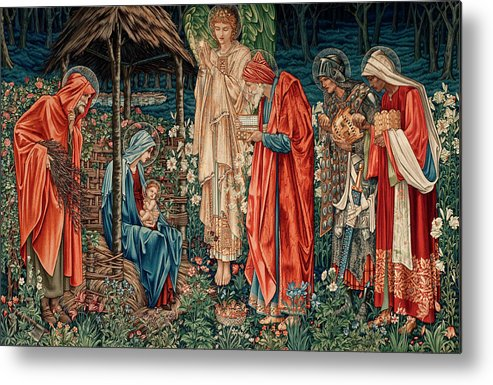 Adoration Of The Magi Metal Print featuring the painting The Adoration Of The Magi by Edward Burne-Jones